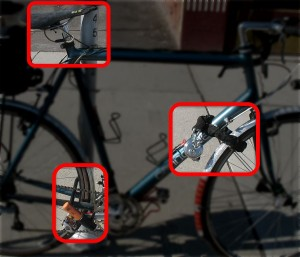 how to lock a bike