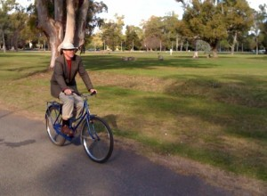 Professor on a Grandma Bike